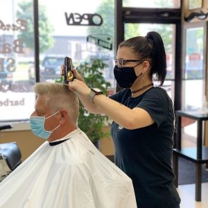 Barber Amy - TheWitchBarber - Men's Haircut - Flat Top - Barber Will Barbershop - 595 Carlton St - St Catharines - 289 362 1000