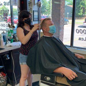 Barber Shawna - Men's Haircut - Barber Will Barbershop - 595 Carlton St - St Catharines - 289 362 1000